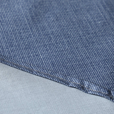 Laminated Cotton Round Tablecloth / Denim