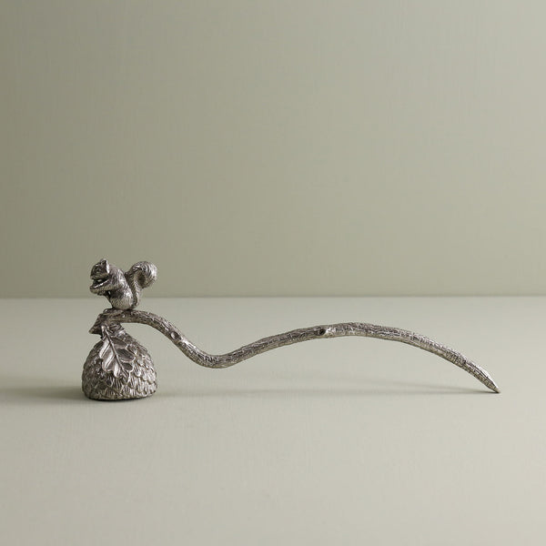 Pewter & Squirrel Candle Snuffer