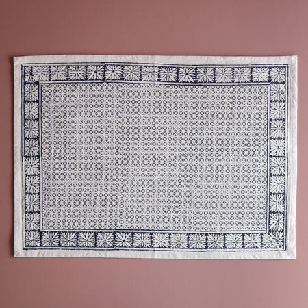 Kora Cotton Block Print Placemat / Starlight