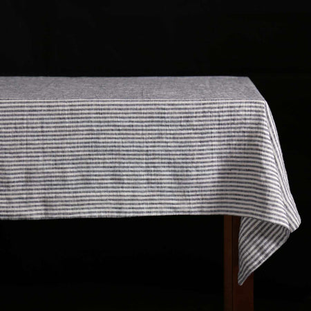 Stripes Linen Tablecloth