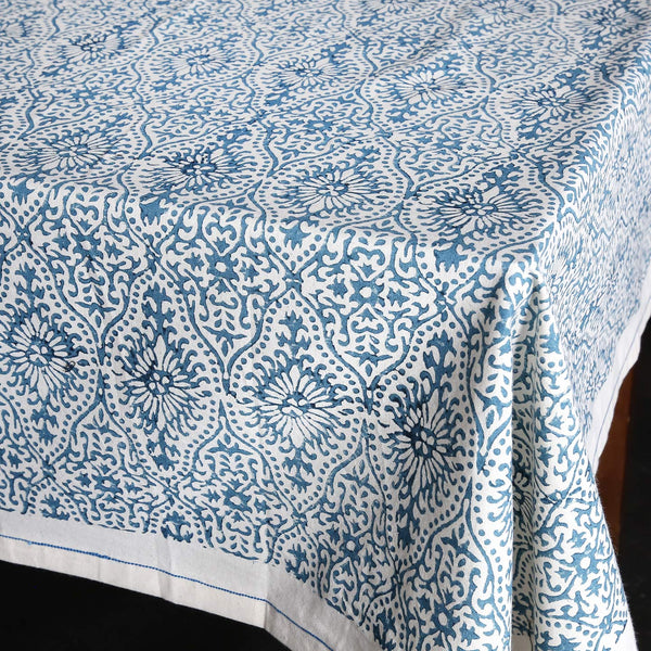 Block Print Tablecloth / Fog Motif