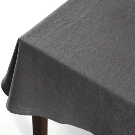 Terra Linen Rectangle Tablecloths / Graphite
