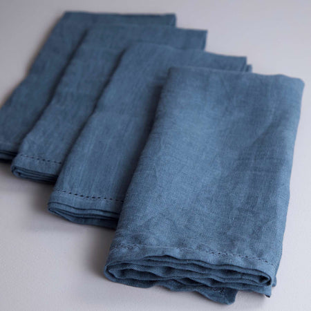 Vikolino Linen Napkin Sets (4pc) / Teal
