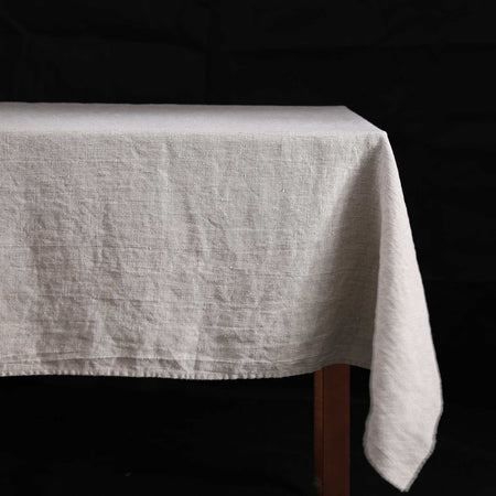 Terra Linen Rectangle Tablecloths / Natural