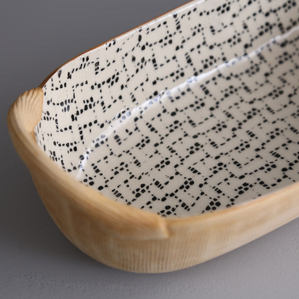 Bread Basket With Handles / Maze / Black