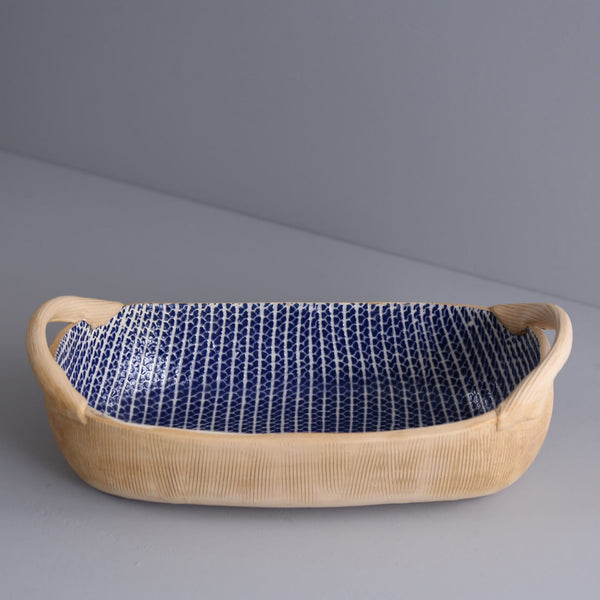 Bread Basket With Handles / Strata / Cobalt