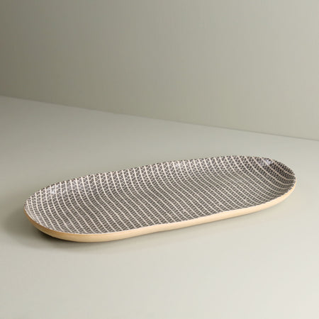 Oval Serving Tray / Strata / Charcoal