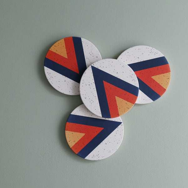 Tramake Ceramic Coaster Set / Arrow