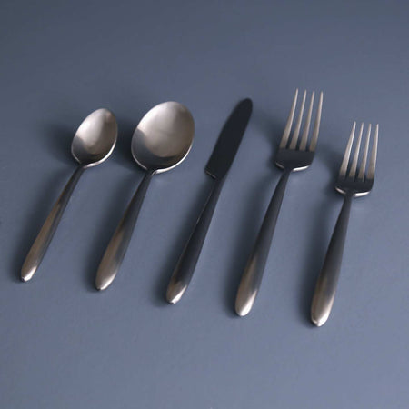 Velo 5pc Flatware Set / Brushed Stainless