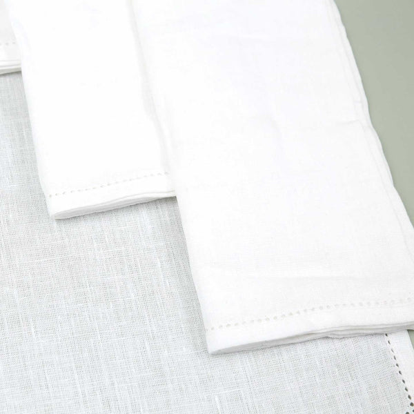 Vikolino Linen Napkin Sets (4pc) / White