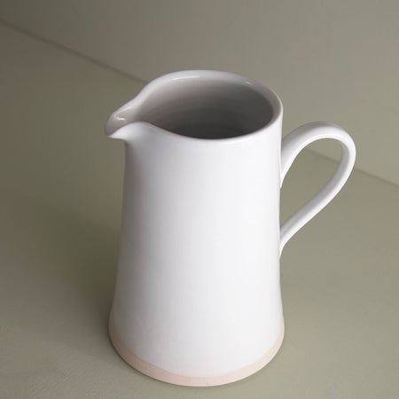 W/R/F Handmade Ceramic Pitcher / White
