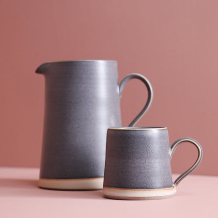 W/R/F Handmade Ceramic Pitcher / Ash