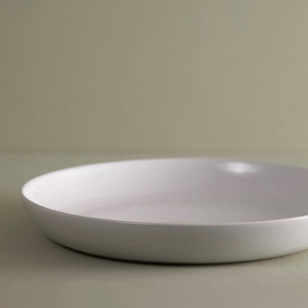 W/R/F Handmade Serving Bowl / White