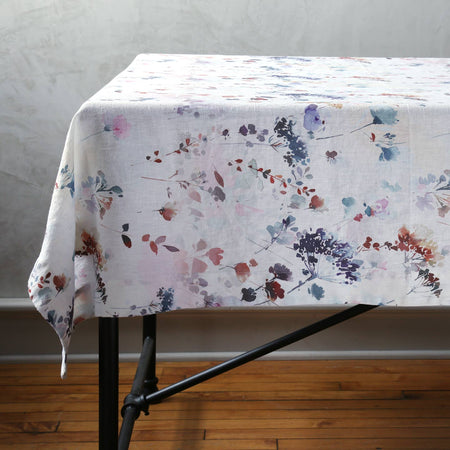 Watercolor Linen Tablecloth