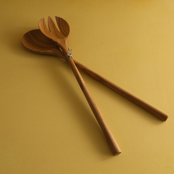 Teak Salad Servers / Extra Large