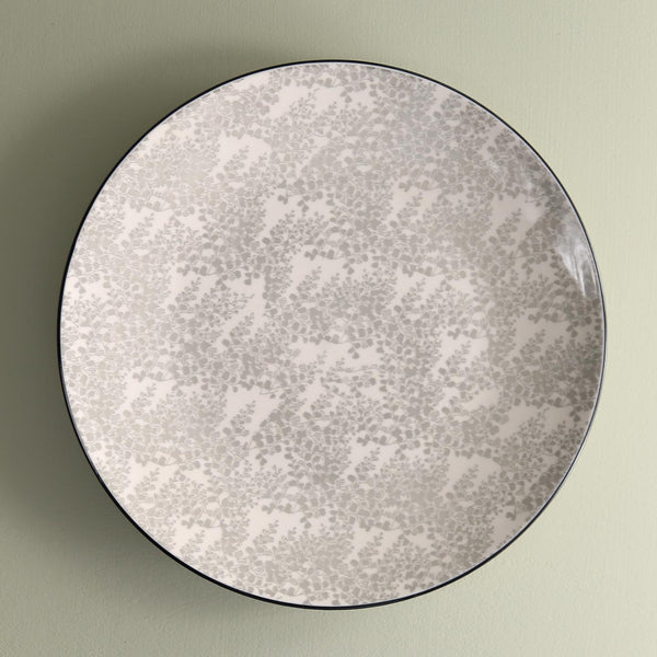 TUE Pattern Dinner Plate /  Fantasy Grey