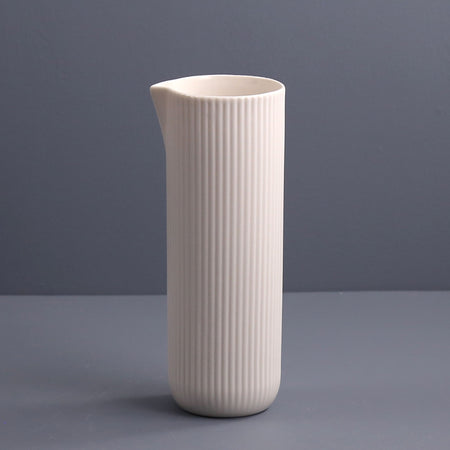 Archive Ribbed Water Jug / Off White