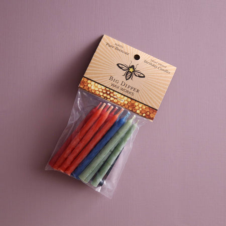 Big Dipper Beeswax Birthday Candles 12pc