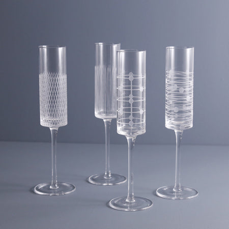 Endra Champagne Flutes / Set of 4