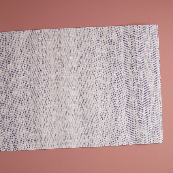 Chilewich Vinyl Table Runner / Wave Blue