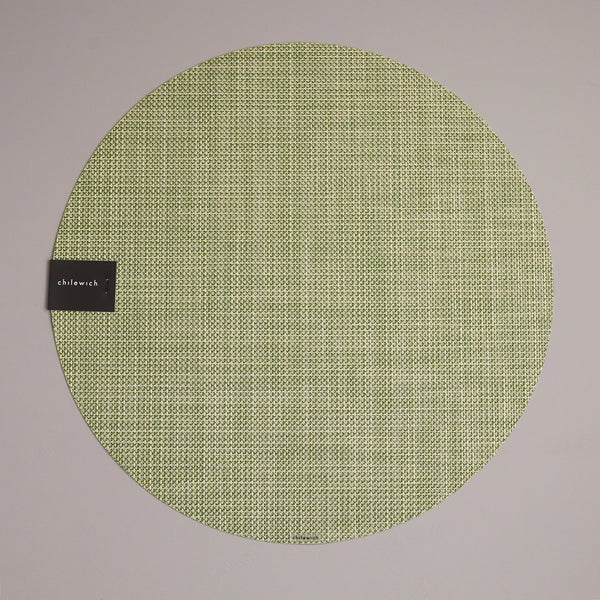 Chilewich Vinyl Placemats / Mini Basketweave Dill Round