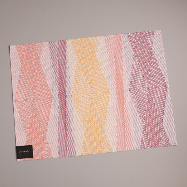 Chilewich Vinyl Placemats / Kimono Sherbet Rectangle