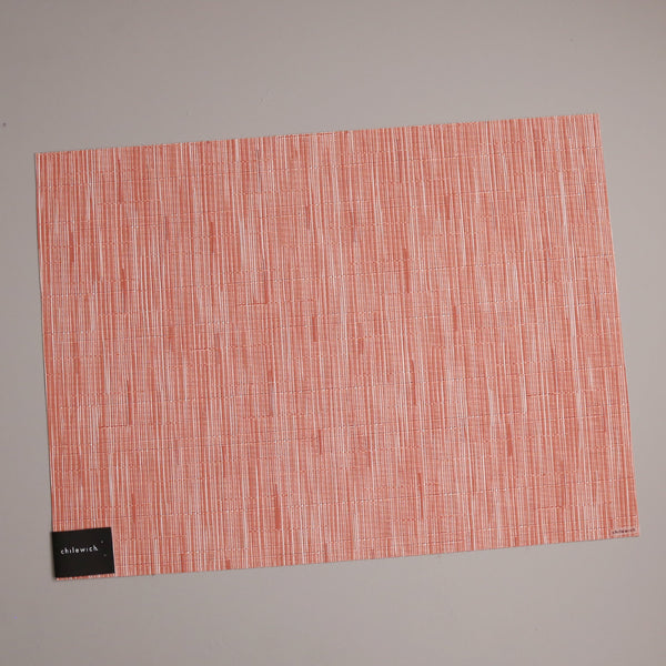 Chilewich Vinyl Placemats / Bamboo Sunset Rectangle