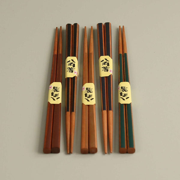 Color Stripes Chopsticks / Set of 5 Pair Assorted