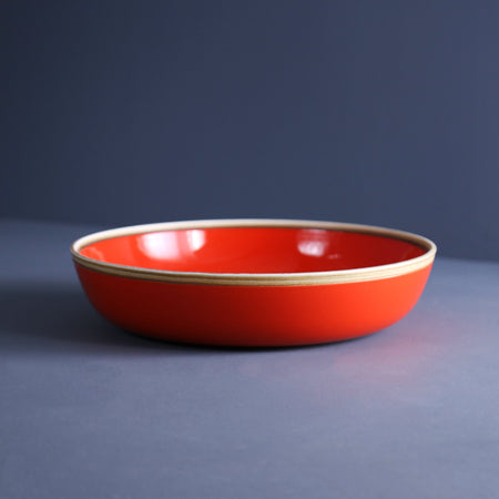 Coral Red Large Serving Bowl