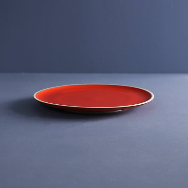 Coral Red Salad Plates