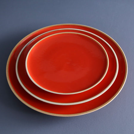 Coral Red Dinner Plates