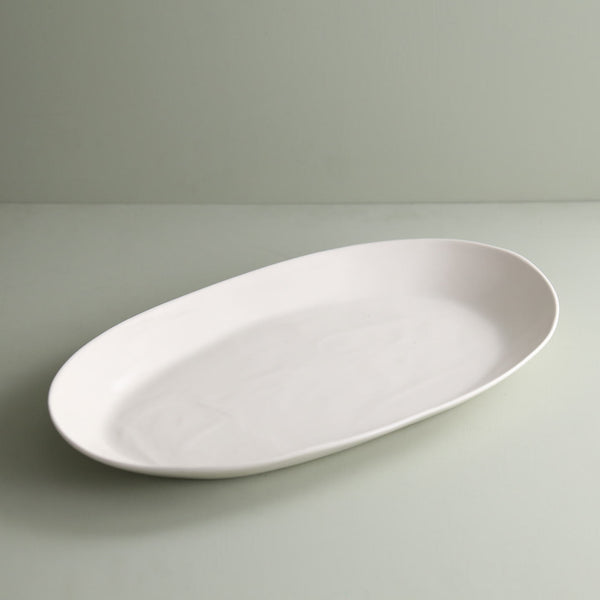 Davistudio Large Oval Platter / White