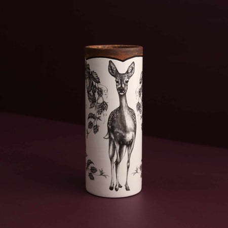 Hand Made Canister Vase / Fallow Doe