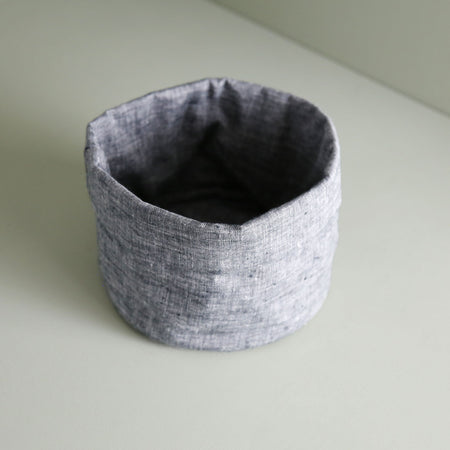 Linen Bread Basket / Charcoal