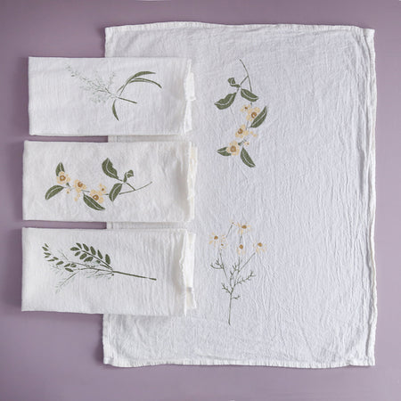 June & December Botanical Napkin Sets / Herbal Tea Garden