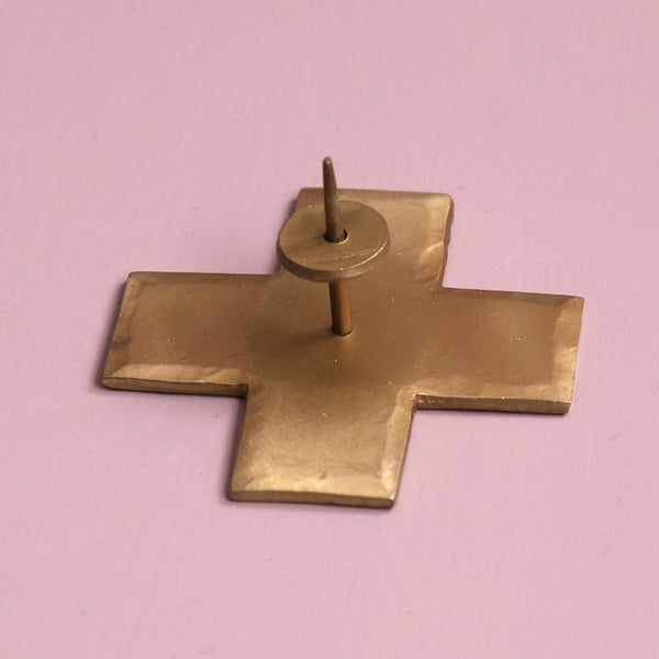 Icon Taper Candle Holder / Brass