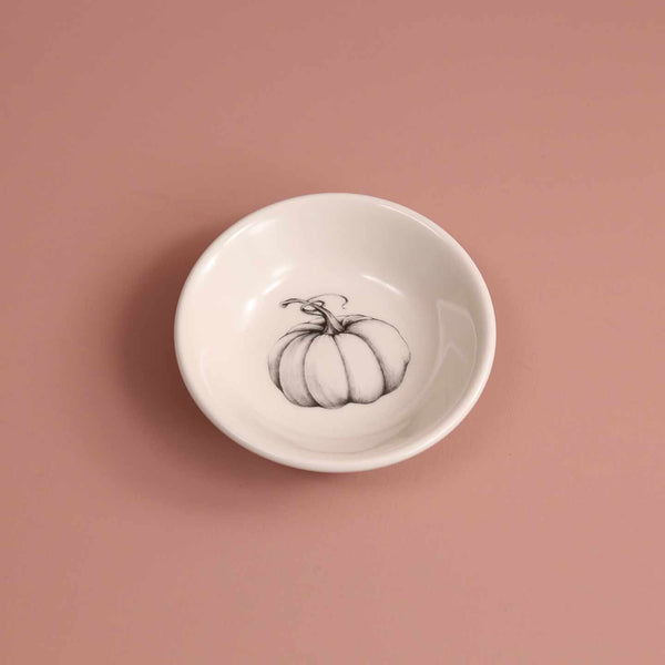 Hand Made Sauce Bowl / Ghost Pumpkin