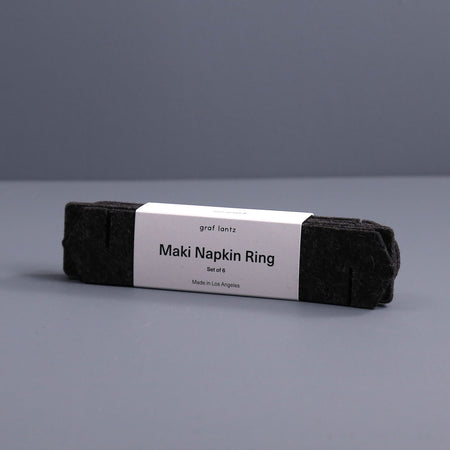 Maki Felt Napkin Ring Set / Charcoal