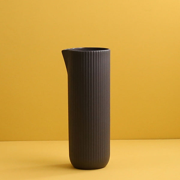 Archive Ribbed Water Jug / Dark Grey