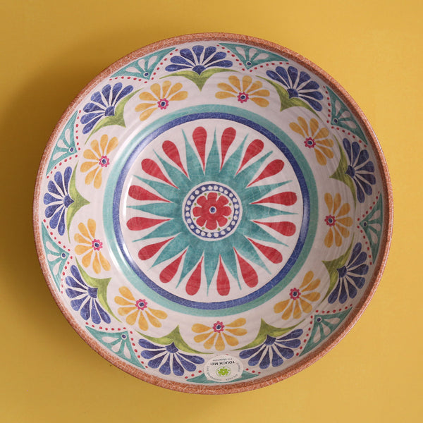 Medallion Melamine Serving Bowl