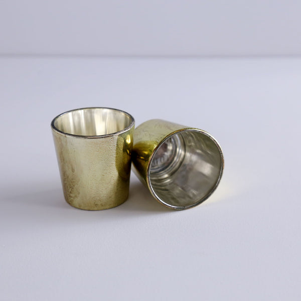 Metallic Glass Votives / Gold