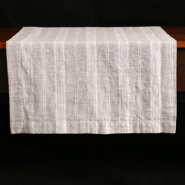 Multi Stripe Linen Table Runners / Birch