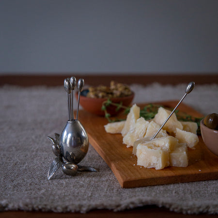 Pewter Cheese Picks Set / Olives