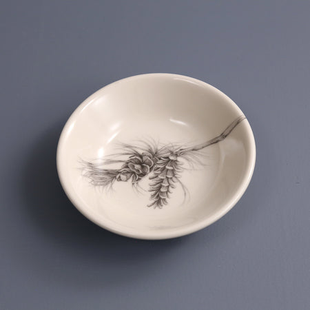 Hand Made Sauce Bowl / Pine Branch