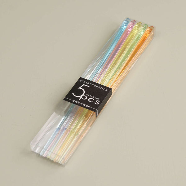 Rainbow Acrylic Chopsticks / Set of 5 Pair