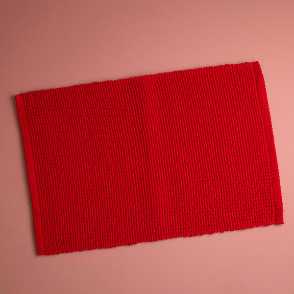 Homespun Solid Placemat / Red