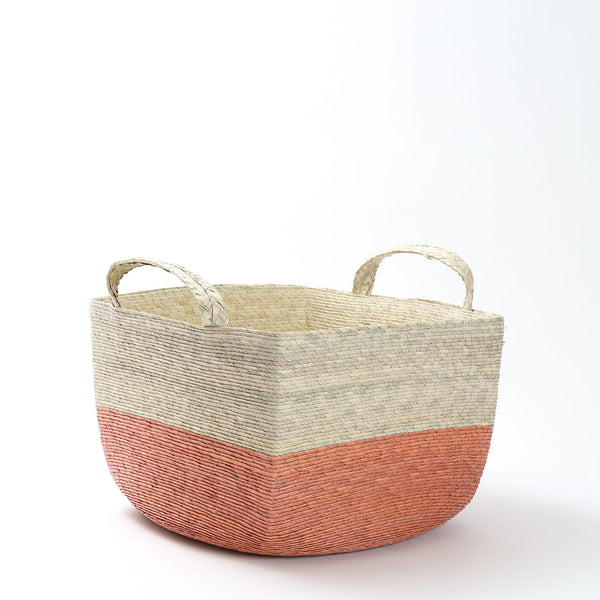 Makaua Revistero Square Handled Basket / Calabaza