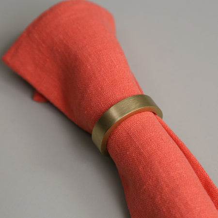 Gold Circle Napkin Ring Set ( 4pc )