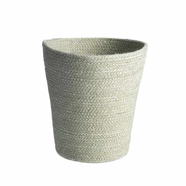Jute Trash Basket / Sage