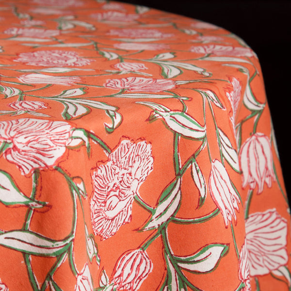 Saimur Block Print Round Tablecloth